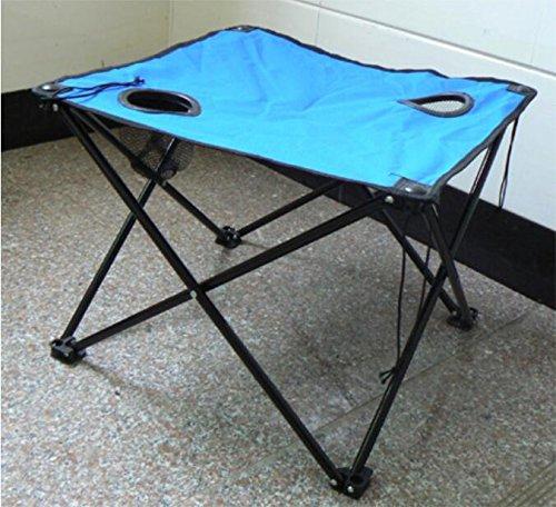 ZLL/ Leinwand im freien Tisch stand Klapptisch portable Tisch/Picknick Tisch/stand/Strand Hof einen kleineren quadratischen Tisch , blue (Klapptisch Portable)