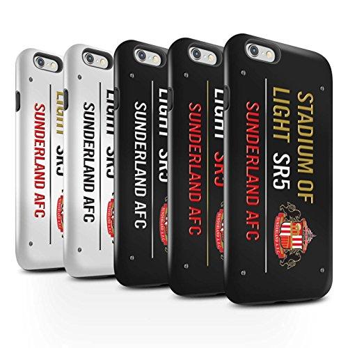 Offiziell Sunderland AFC Hülle / Glanz Harten Stoßfest Case für Apple iPhone 6S / Pack 6pcs Muster / SAFC Stadium of Light Zeichen Kollektion Pack 6pcs