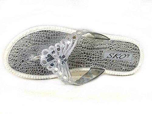 SKO'S, Infradito donna Silver (UW669)