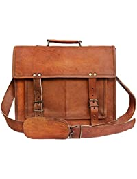 Anshika International Original Leather 15 Inch Satchel/Messenger Bag – Laptop – Brown