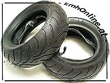 kmhonline Pocket Bike Reifen Profil Set (2 Stück) vorne/hinten (1 x vorne + 1 hinten)