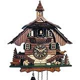 SELVA Reloj De Cuco ST. Blasien clásica Negro bosques Artesanal–Fabricado en Alemania–En Nogal barnizada, Ideenreich Adornado–Tiempo Los, Schick. (Altura: 31cm)–c341967