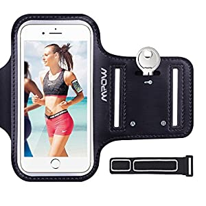 iPhone 7 / 6s / 6 / 8 Armband, Mpow Sweatproof Sports Running Armband (with Reflective Strap + Key Holder) Compatible with iPhone 7/8/6s/6 (4.7 inch) for Jogging, Gym, Cycling, Biking, Hiking, Horseback Riding