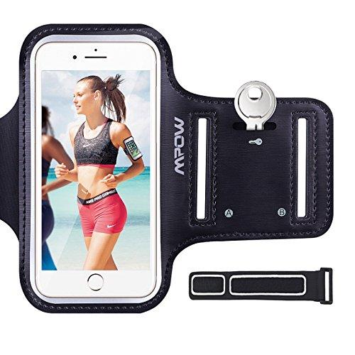 Mpow Brassard iPhone 6/6s 4,7' Sports Sweatproof Etui Armband Case pour le Jogging/Gym/Sport, Confortable avec sangle réglable,Noir