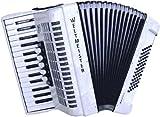 Weltmeister Piano Akkordeon Kristall weissperloid