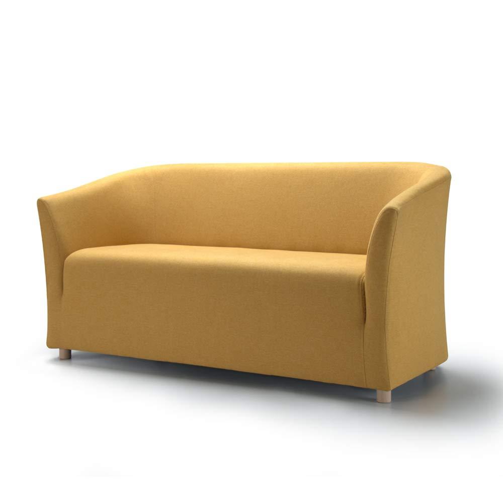 Movian, divano 2 posti modello Laura, colore giallo   CasaMe