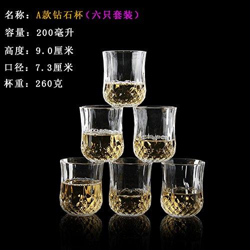 ZBZQ-Glas Schale, Tasse Tee, Kreative, Bier Cup, ausländischen Wein, Whisky Glas, multifunktionale Tasse Tee, ein Modell Six Pack (Bier 6 Kostüm Pack)