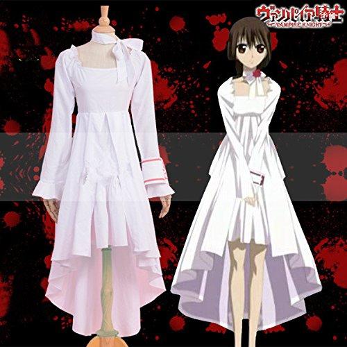 Kleider Cosplay Anime (Vivian Anime Vampire Knight Cosplay Kostüm schönen Stil, Weiß Prinzessin Kleid Frau Lady Style Party Kleid Cosplay Kostüm (kann angepasst werden),Größe M:(160-165)