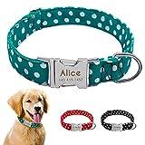 Benlasen Personazlied Hundehalsband, Nylon, Anti-Verlust, Namensschild, Halsbänder gravierbar für kleine und mittelgroße Hunde