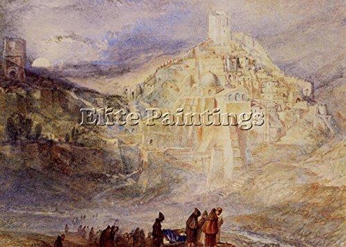 TURNER JOSEPH MALLORD WILLIAM SANTA SABES BROOK KEDRON BILDER BILD OLGEMALDE 70x100cm HOCHWERTIGER