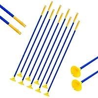 SHARROW 12/24pcs Flechas de Niños Sucker Arrow Caza Práctica de Tiro al Aire Libre para el Recurvo Compuesto Flechas de Arco Juego Juego de Juguete para Jóvenes (12)