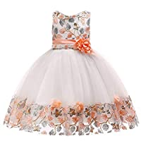 Longra® Baby Girl Christmas Dress,Toddler Kids Snowflake Print Sleeveless Bridesmaid Dress Outfits Clothes for 1-6 Years