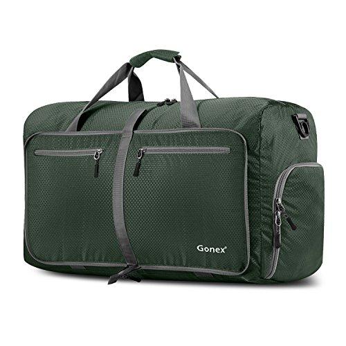 Gonex Leichter Faltbare Reise-Gepäck 60L Duffel Taschen Übernachtung Taschen/Sporttasche für Reisen Sport Gym Urlaub - Leichtes Gepäck