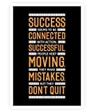Lab No. 4 To Be Connected Conrad Hilton Motivational Quotes Poster Size A3 (16.5