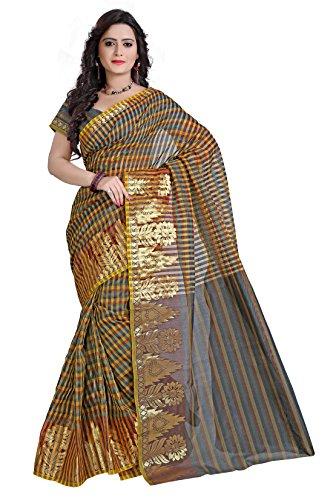 E-Vastram Net Saree (Msbl_Multi Colour)