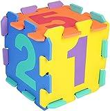 Bieco 19201505 - Puzzlematte Zahlen, 10 Teile