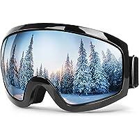 Bfull Skibrille Für Damen und Herren Kids Brillenträger Skibrille 100% OTG UV400 Anti-Fog UV-Schutz Skibrillen Snowboard Skibrille Schutz Ski Goggles