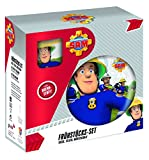 Feuerwehmann Sam Porzellan 3-teiliges Frühstück-Set im Geschenk-Karton Becher, Müsli-Schale & Teller
