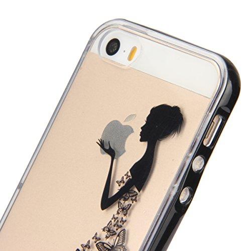 Ukayfe iPhone 6 Plus Coque, iPhone 6 Plus / 6s Plus Silicone Coque Classique Anti-choc Combo Housse Anti-poussière Etui Protecteur Ultra mince Case Cover Housse de Protection Cas en caoutchouc Souple  jupe papillon