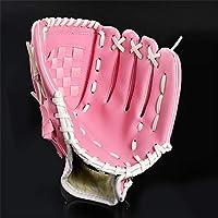 GXQ-AIJINGYU Guante de béisbol marrón para Deportes al Aire Libre, Equipo de práctica de softbol, Mano Izquierda para Entrenamiento de Hombre Adulto Mujer,