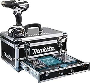 makita akku schlagbohrschrauber im alu kunststoffkoffer inklusiv 2 akkus und ladeger t 18 v 1 5. Black Bedroom Furniture Sets. Home Design Ideas