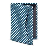 Fahrkarten-Etui, Kartenhalter mit Punktemuster, Leder, von 1642, blau (Blau) - 5307P 17 21