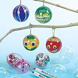 Bolas de Navidad Infantiles Transparentes para Decorar y Colgar en el Árbol Manualidades Creativas para Niños Perfectas como Decoraciones Navideñas Personalizadas (Pack de 12)