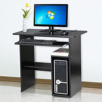 This Item Tinkertonk Small Computer Desk Home Office Study With Sliding Keyboard Shelf Black