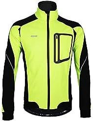 Docooler Veste à Manches Longues Hiver Chaud Cyclage Thermique à Manches veste Vélo Vêtements Coupe-vent