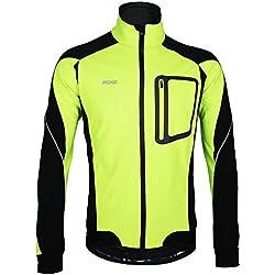 """Lixada Montaña Arsuxeo chaqueta de invierno caliente chaqueta de manga larga de ciclismo de luz de bicicleta a prueba de viento de la camiseta de la ropa, color - verde, tamaño S(EU) = Brust 43,3"""""""