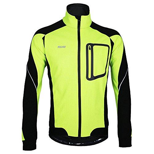 Lixada MTB Mountainbike Jacket Winter Trikot Radfahren Fahrradkleidung Winddicht Jersey, Grün, XL