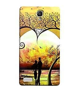 PrintVisa Designer Back Case Cover for Redmi Note / Note 4G (couple enjoying sunset romantic evening)