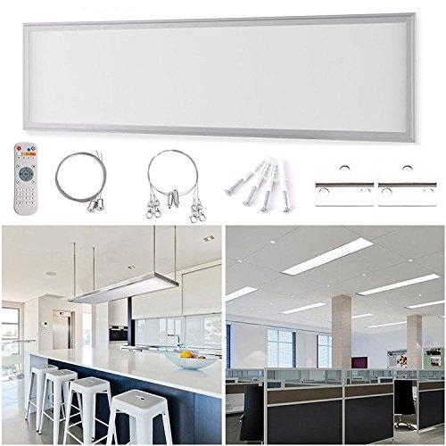 Preisvergleich Produktbild Anten Ultraslim 30x120cm LED Panel dimmbar mit Fernbedienung, 40W kaltweiß Led Deckenleuchte Inkl.Befestigungsmaterial und LED Trafo, Drei Installationsmethoden