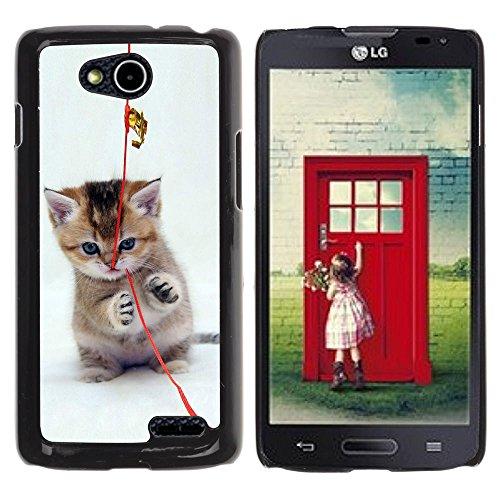 DREAMCASE Hart Handy SchutzHülle Hülle Schale Case Cover Etui für LG OPTIMUS L90 D415 - Cute Cat Kitten