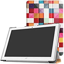 "Acer Iconia One 10 B3-A40 Slim Shell Funda,Mama Mouth Ultra Slim Ligera PU Cuero Con Soporte Funda Caso Case para 10.1"" Acer Iconia One 10 B3-A40 Android Tablet PC,Magic cube"