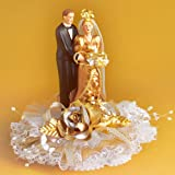 Porcelain bridal couple for golden wedding