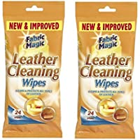 Lot de 2paquets de 24lingettes nettoyantes pour le cuir Fabric Magic