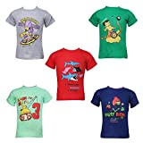 #10: KIDANIA Kids Boys and Girl's Cotton Angrey Bird Printed Desing Summer Wear T-Shirt (Pack of 5_Size- 1-2years)