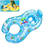 Qilerongrong Baby Schwimmsitz Schwimmhilfe Schlauchboot Schwimmreifen , Doppel schwimmring Schwimmhilfen Schwimmen Ring für Baby von 6 Monaten bis 3 Jahre und Mutter