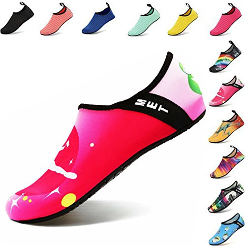 AGOLOD Water Shoes Mens Womens Barefoot Shoes Beach Snorkeling Swimming Quick Drying Slip On Yoga Shoes Skin Socks Sports Aqua Shoes for Walking,Park,Boating