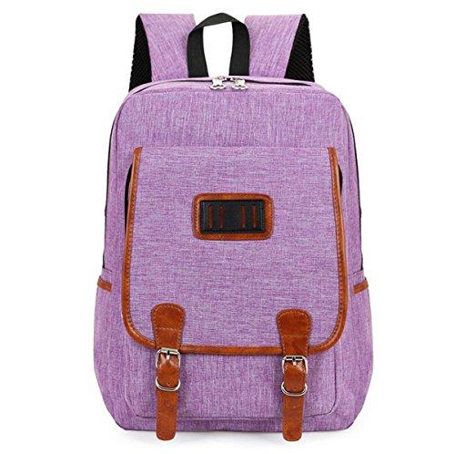 Spleißen Schlagfarbe Große Kapazität Computerbeutel Personifizierte Gurtmänner Und Frauenbeutel-Spielraumbeutel-Schulterbeutel Purple