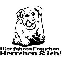 Artykuły Reklamowe Auto Aufkleber Hund Mops Bulldogge