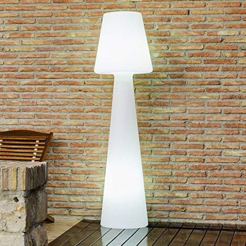 Delamaison IDE7051012 Lampadaire, Plastique, E27, 15 W, Blanc, 114cm X 27cm