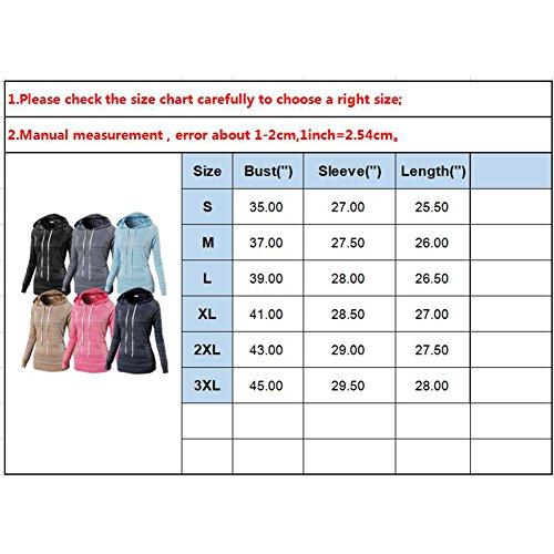 Hibote Femme Chemise Sweat-shirts à capuche Hauts manches longues rayures chemises slim fit Sweat Vêtements dextérieur Café