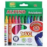 Alpino Maxi Trousse de 12 Surligneurs Couleurs Assorties