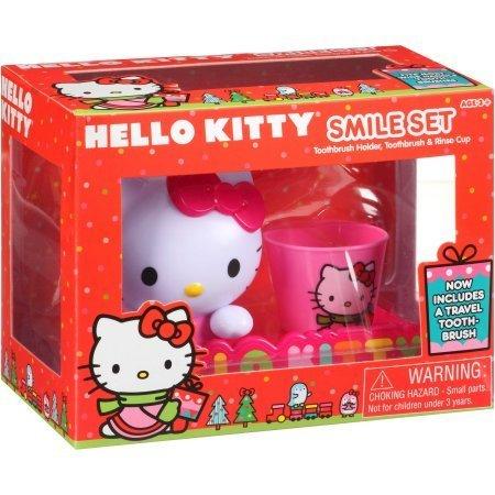 Hello Kitty Smile Set Zahnbürstenhalter, Zahnbürste und Cup Ausspülen - Hello Kitty Teen