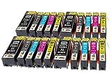 TONER EXPERTE® 20 XL Druckerpatronen kompatibel für Epson 33XL Expression Premium XP-530 XP-540 XP-630 XP-635 XP-640 XP-645 XP-830 XP-900 (4x T3351 Schwarz, 4x T3361 Foto Schwarz, 4x T3362 Cyan, 4x T3363 Magenta, 4x T3364 Gelb)