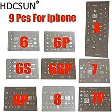 Generic Full Set Bga Reballing Stencil Dedicate Kit For Iphone 4/5/6/7/8/X For Iphone Bga Reballing Repairing [9Pcs]