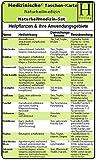 Naturheilmedizin Set - Medizinische Taschen-Karte: Naturheilkunde /Bachblüten Therapie /Schüssler-Salze
