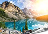 PMP-4life Wand-Bild Bergsee in Kanada | 140x100cm | hochauflösendes Gebirgssee-Poster XXL, Natur Poster, großes Fotoposter Wand-Dekoration |